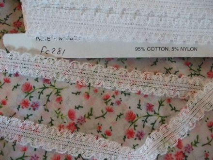 FC281 White Nottingham Valenciennes Cotton Lace